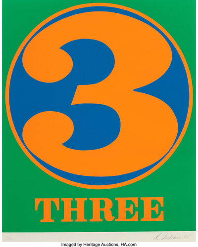 Robert Indiana, 'Three (from Numbers)', 1968