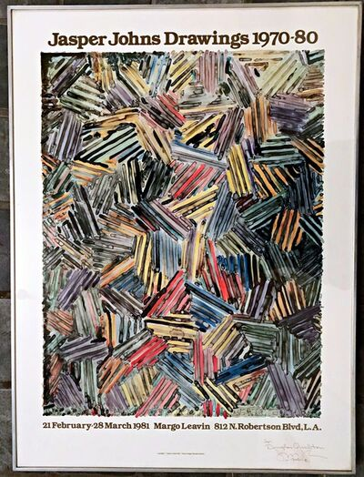 Jasper Johns, 'Jasper Johns Drawings (Hand signed and inscribed to Michael Crichton's brother)', 1980-1981