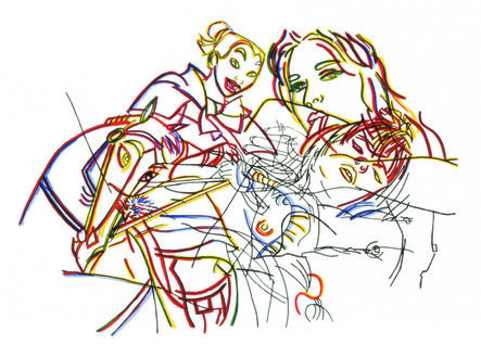 Ghada Amer, 'Sleeping Beauty Without Castles', 2002