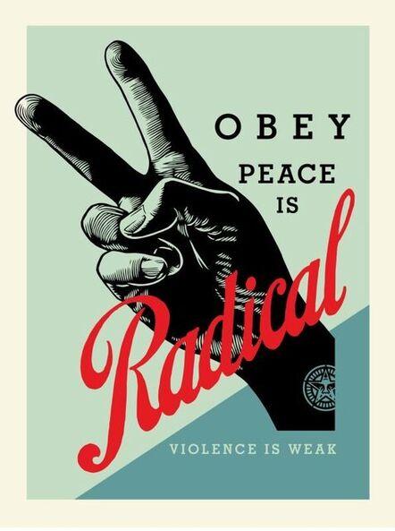 Shepard Fairey, 'Obey Radical Peace (blue)', 2021