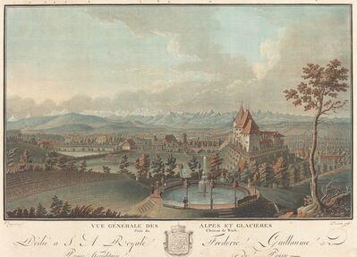 Charles-Melchior Descourtis, 'Vue generale des Alpes et Glaciers'