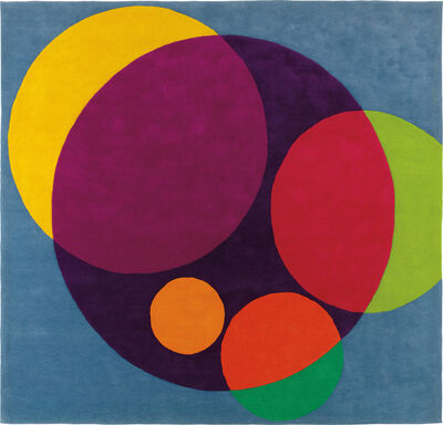 """Herbert Bayer, '""""Chromatic Circles"""" tapestry, commissioned for the ARCO offices, Los Angeles', circa 1967"""