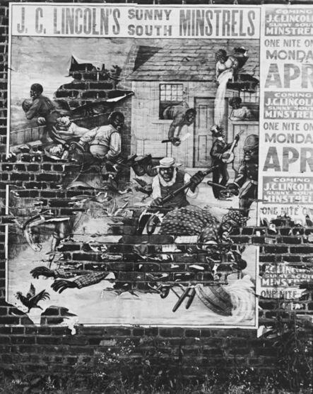 Walker Evans, 'Minstrel Poster, Alabama', 1936