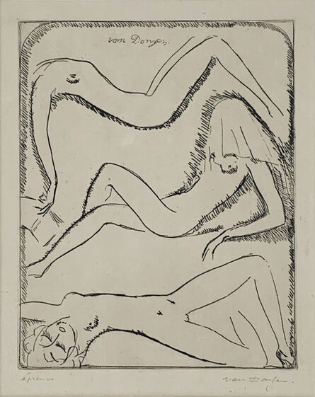 Kees van Dongen, 'Three Reclining Female Nudes', 1925