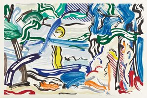 Roy Lichtenstein, 'Moonscape, from Landscape Series', 1985