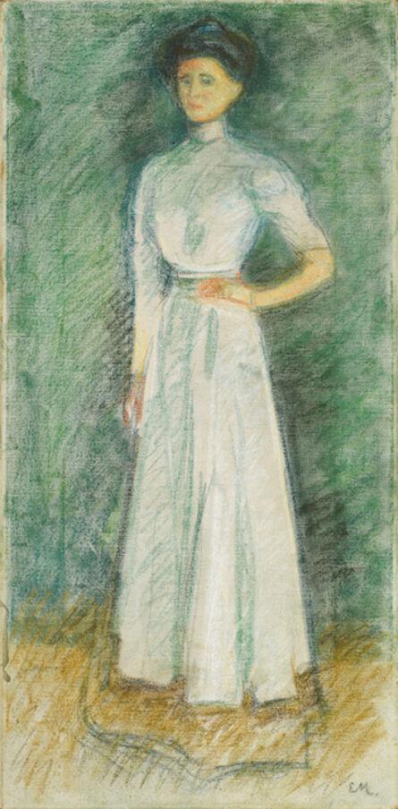 Edvard Munch, 'Portrait of Marta Sandal', 1902