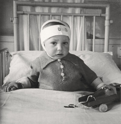 Cecil Beaton, 'Portrait of a Child Injured in the Blitz, Queen Charlotte's Hospital, London', 1942