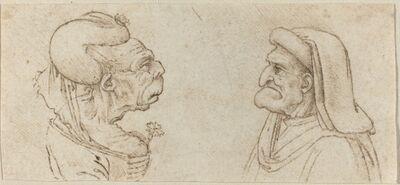 Francesco Melzi after Leonardo da Vinci, 'Two Grotesque Heads'