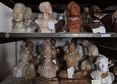 Ken Gonzales-Day, 'Untitled (Malvina Hoffman Collection, [top:left to right] Mayan Man [336921]; South African Bushwoman [336951]; Asparoke Indian Man [336935]; Ubangi Woman [336943]; [bottom: left to right] Sudan Woman [336938]; Padaung Woman [336925]; Tibetan Merchant [336941A]; Zulu Woman [336945]; Lapp Man [336917], The Field Museum, Chicago, IL)', 2008-2012
