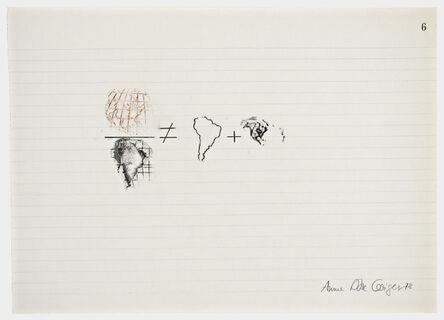 Anna Bella Geiger, 'Equations No 6', 1978
