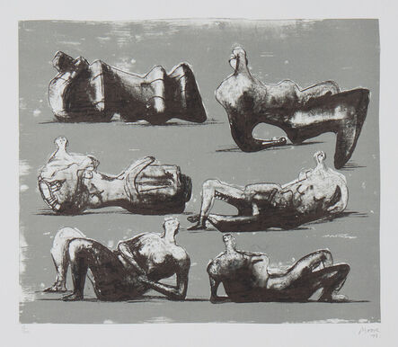 Henry Moore, 'Six Reclining Figures', 1973