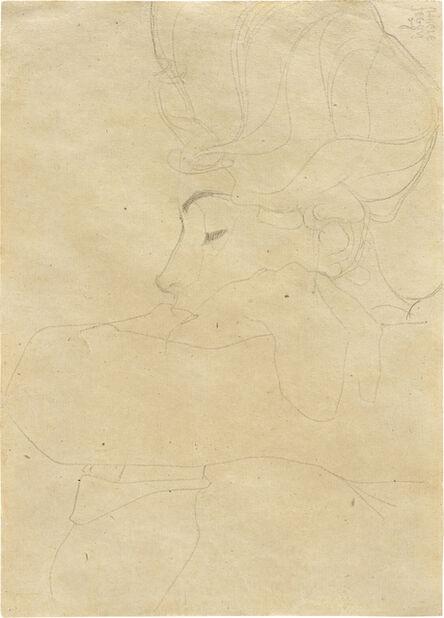 Egon Schiele, 'Portrat einer Dame (Portrait of a Woman)', 1908