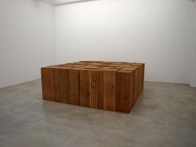 Carl Andre, '8 x 8 Cedar Solid', 2002