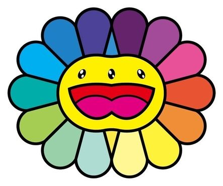 Takashi Murakami, 'Multicolor Double Face (Yellow)', 2020