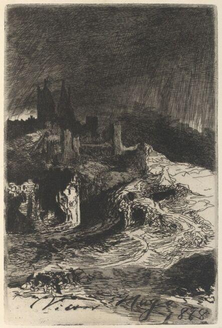 Victor, Hugo, 'L'Eclair (Lightning)', 1868