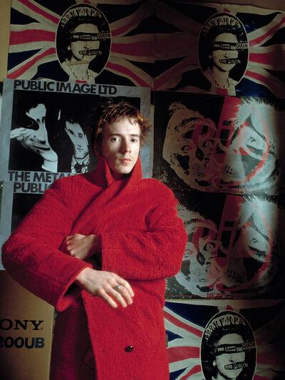 Sheila Rock, 'John Lydon (Johnny Rotten) of Public Image Ltd, ex of The Sex Pistols in his apartment, London', ca. 1979