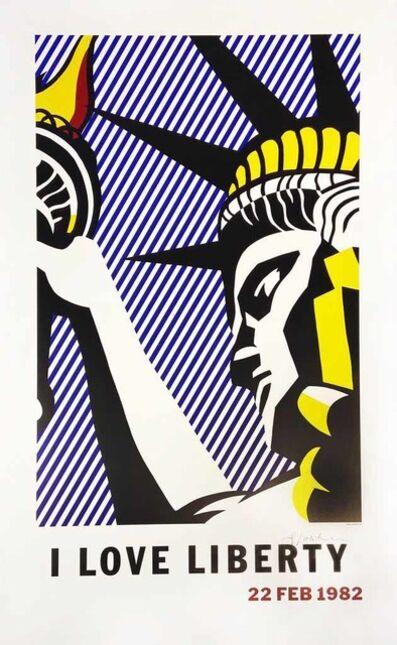 Roy Lichtenstein, 'Poster: I Love Liberty', 1982
