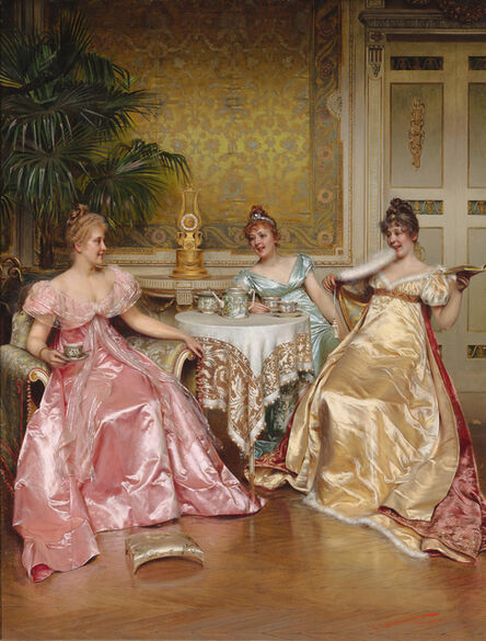 Charles Soulacroix, 'Afternoon Tea for Three', 19th century