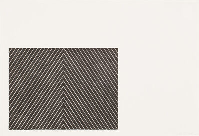 Frank Stella, 'Point of Pines, from Black Series II (G. 68, A. & K. 16)', 1967