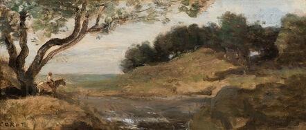 Jean-Baptiste-Camille Corot, 'Rider Under a Tree (Cavalier sous un arbre)', 1870-1872