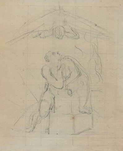 William Blake (1757-1827), 'Los and His Spectre [verso]', ca. 1804/1807