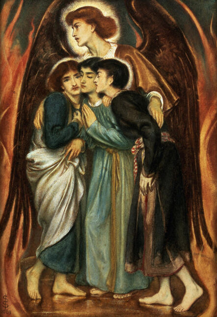 Simeon Solomon, 'Shadrach, Meshach and Abednego in the Fiery Furnace', 1863
