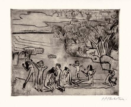 Max Pechstein, 'Am Ufer', 1920