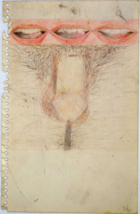 Betty Tompkins, 'Mouth/Mouth/Mouth/Cock', 1970