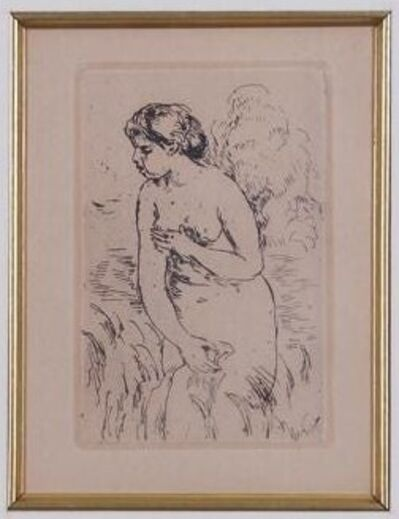Pierre-Auguste Renoir, 'BAIGNEUSE DEBOUT, A MI-JAMBES (Standing Bather, Down to the Knees)', 1910