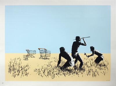 Banksy, 'Trolley Hunters (Colour)', 2007