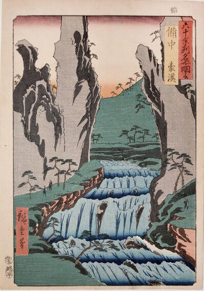 Utagawa Hiroshige (Andō Hiroshige), 'Bitchu: Gokei', 1853