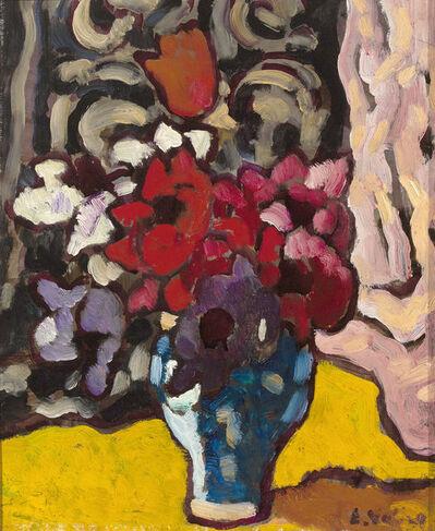 Louis Valtat, 'Fleurs en Vase Bleu ', 1942