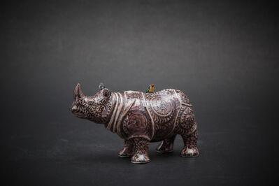Kensuke Fujiyoshi, '20. Small Rhino (purple)', 2017