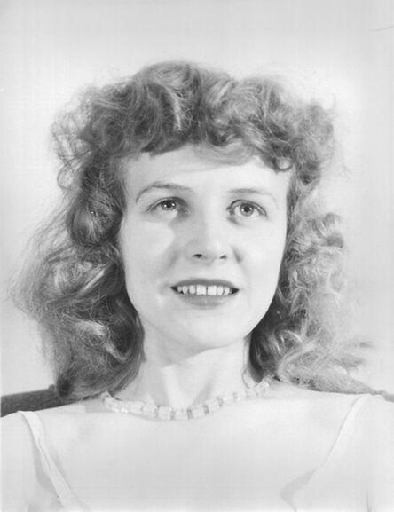 Eugene Von Bruenchenhein, 'Untitled (Marie headshot with pearls and white slip)', ca. 1940s