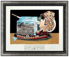 Salvador Dalí, 'Salvador Dali Les Diners de Gala Original Hand Signed Lithograph Surreal Artwork', 1977