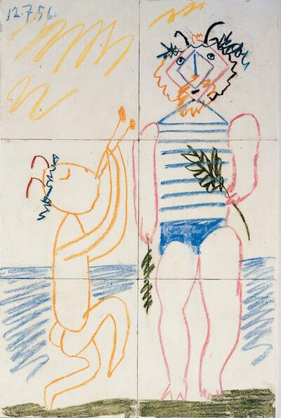 Pablo Picasso, 'Fresque (6 Carreaux), July 12, 1956'