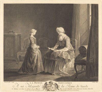 Jacques-Philippe Le Bas after Jean Siméon Chardin, 'La bonne education', 1757