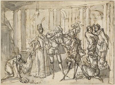 Claude Gillot, 'A Performance by the Commedia dell'Arte', ca. 1710