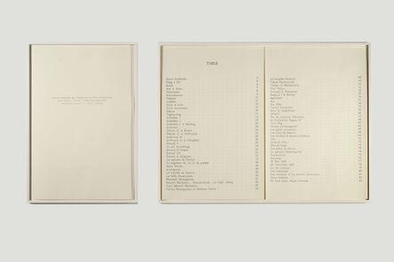 Mekhitar Garabedian, 'Table (Histoire de mes ancêtres) / Saint Lazare, Venise', 2013 -2014