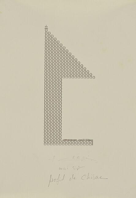 Henri Chopin, 'Profil de Chirac (Typewritten Poems)', 1982