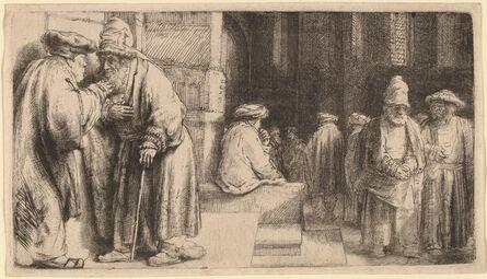 Rembrandt van Rijn, 'Jews in the Synagogue', 1648