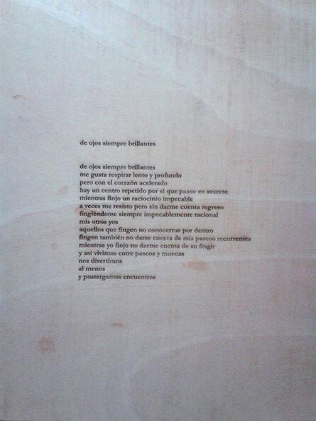 Erika Ordosgoitti, 'De ojos siempre brillantes', 2014-2016