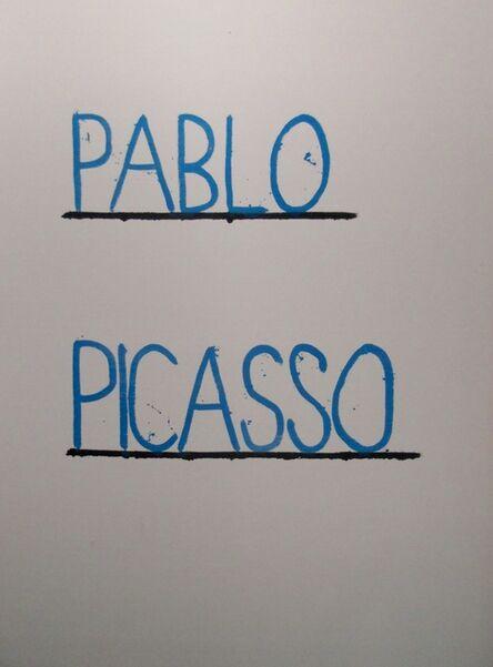 AGGTELEK, 'Pablo Picasso', 2015