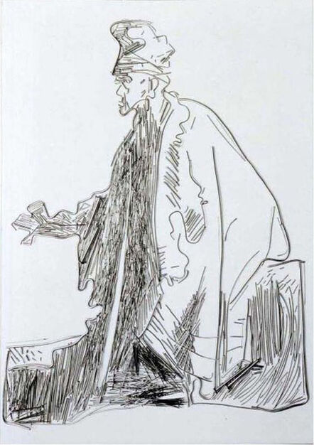 Vik Muniz, 'Beggar III, after Rembrandt', 2001