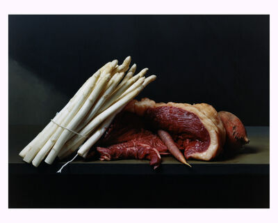 Sharon Core, 'Early American, Still Life with Steak and Asparagus', 2008