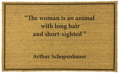 Eugenio Merino, 'Doormats - Arthur Schopenhauer', 2020