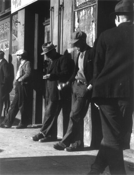 Dorothea Lange, 'Unemployed Men on Howard Street between Third and Fourth, San Francisco', 1934