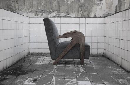 "Lina Bo Bardi, '""Tridente"" armchair, ', ca. 1949"