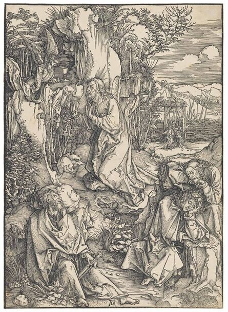Albrecht Dürer, 'Christ on the Mount of Olives, from: The Large Passion (B. 6; M., Holl. 115; S.M.S. 156)', ca. 1496-97