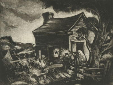 Dox Thrash, 'Cabin with a Star in the Window ', ca. 1944-45